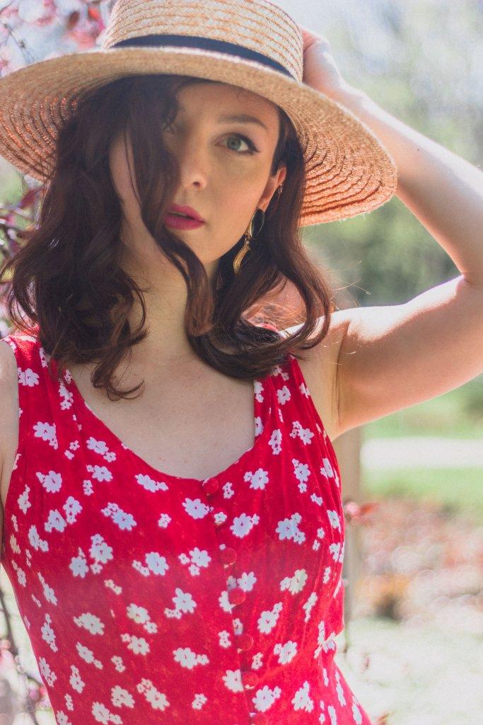 Red_Floral_Summer_Dress_Straw_Hat_Rochie_cu_Flori